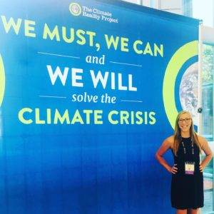 Megan Gallagher at the Climate Reality Leadership Corps training