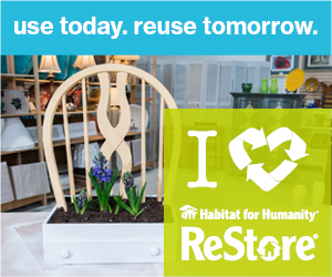 Use today, reuse tomorrow. I love ReStore logo.